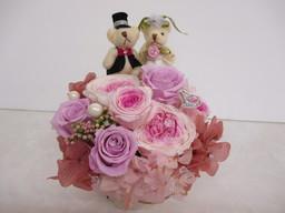 wedding♡ベア・プリザーブド ¥6980(税込)