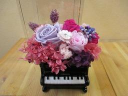 プリザーブドフラワー ピアノ ¥4730